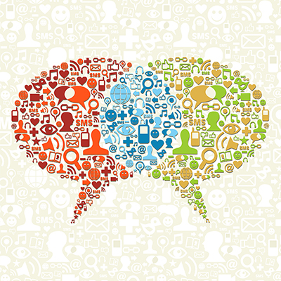 social speech bubbles